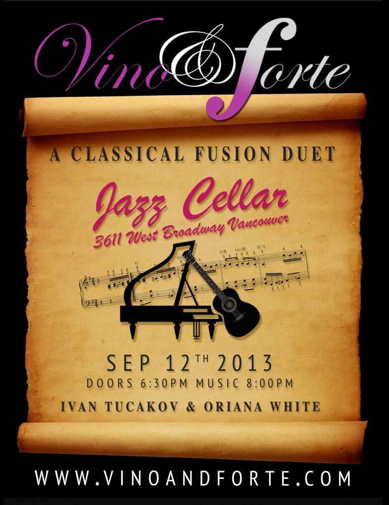 Sep 12, 2013 - Vino & Forte - Jazz Cellar, Vancouver